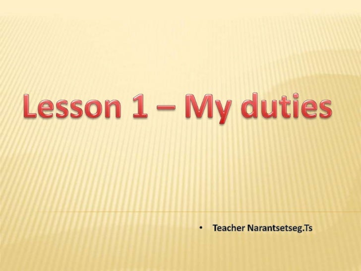 The   19th   of October                   Tuesday                     Lesson