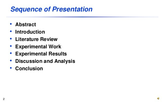 layout of a research paper