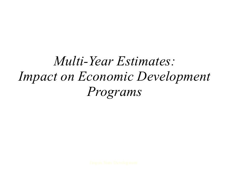 Multi-Year Estimates: Impact on Economic Development Programs