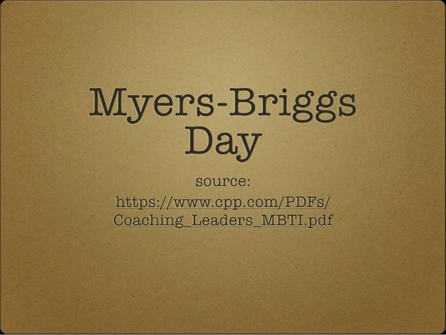 Myers briggs and leadership models