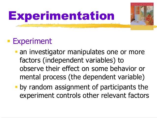 Random assignment of participants