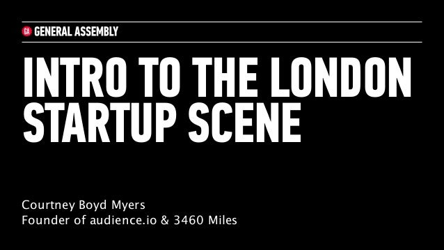 Intro to the London Startup Scene 27/3/2014