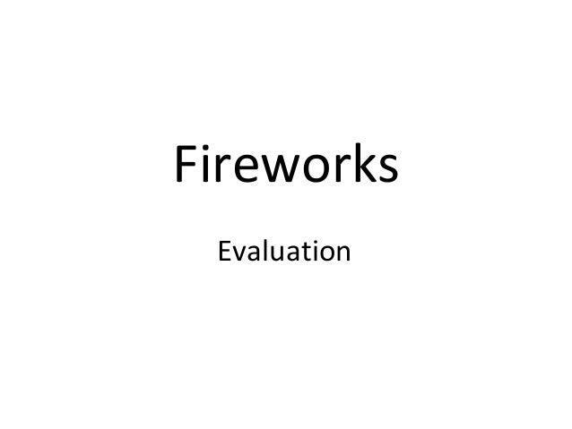 Evaluation Fireworks