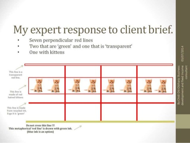 My expert response to a client brief