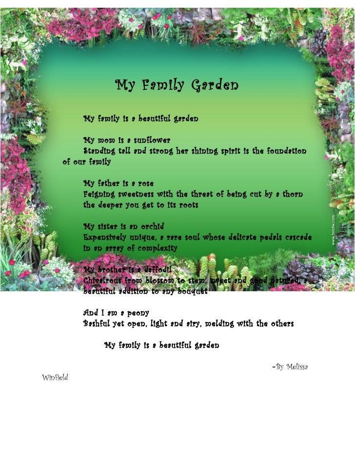 extended metaphor a garden is