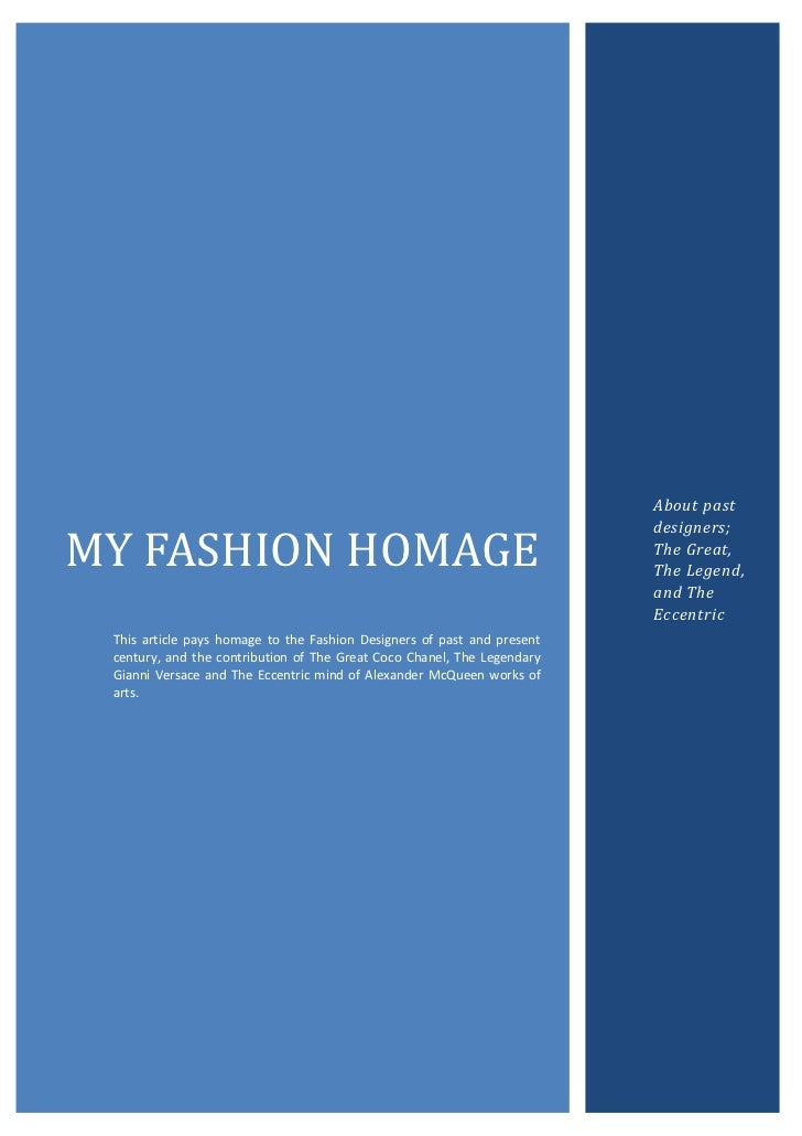 About past                                                                         designers;MY FASHION HOMAGE            ...