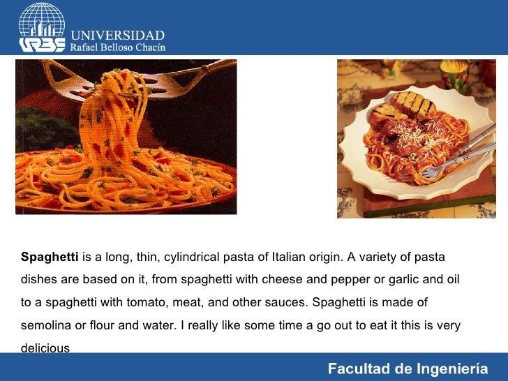 descriptive essay about pasta