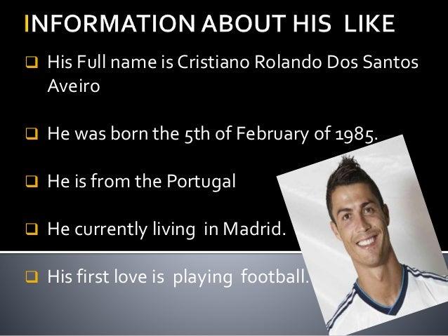 cristiano ronaldo presentation