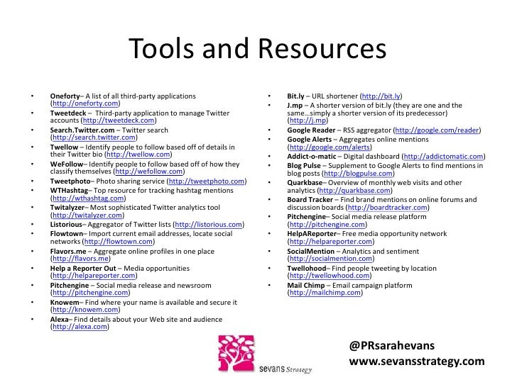 My favorite online tools and resources