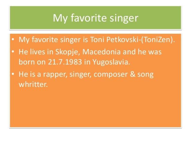 My Favorite Singer Essay