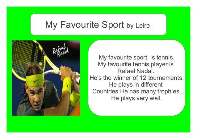 start an essay my favorite sport