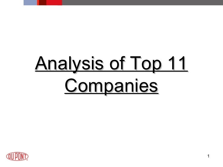 <ul><li>Analysis of Top 11 Companies </li></ul>