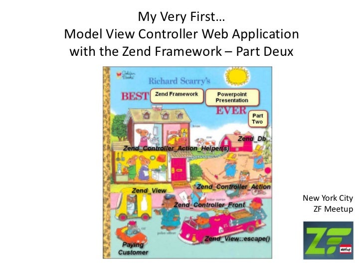 My Very First…Model View Controller Web Applicationwith the ZendFramework – Part Deux<br />New York CityZF Meetup<br />