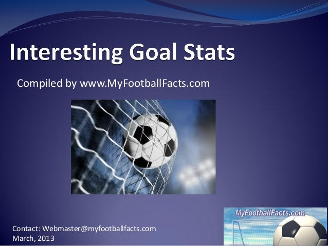 My footballfacts interesting goal facts