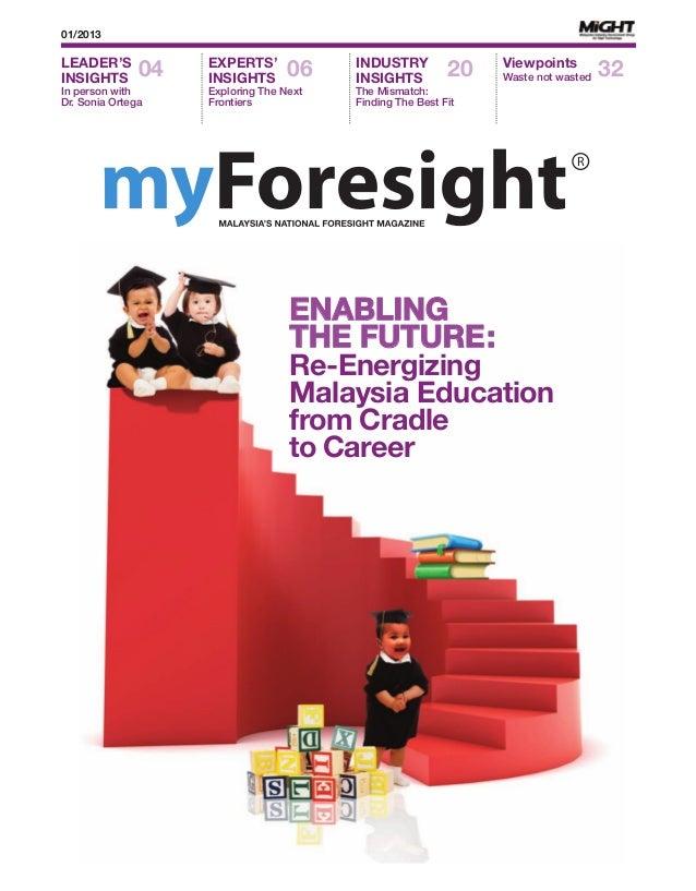 My foresight reenergizing education
