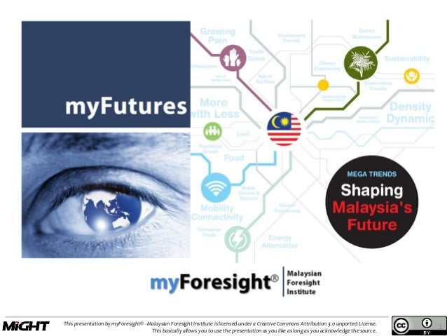 This presentation by myForesight® - Malaysian Foresight Institute is licensed under a Creative Commons Attribution 3.0 unp...