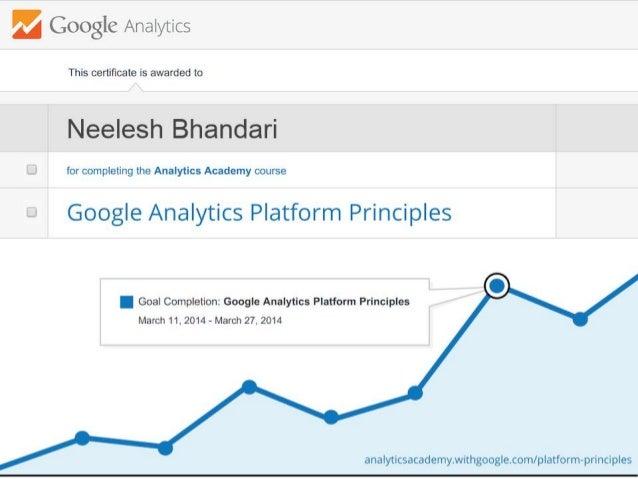 My Google Analytics Certificate