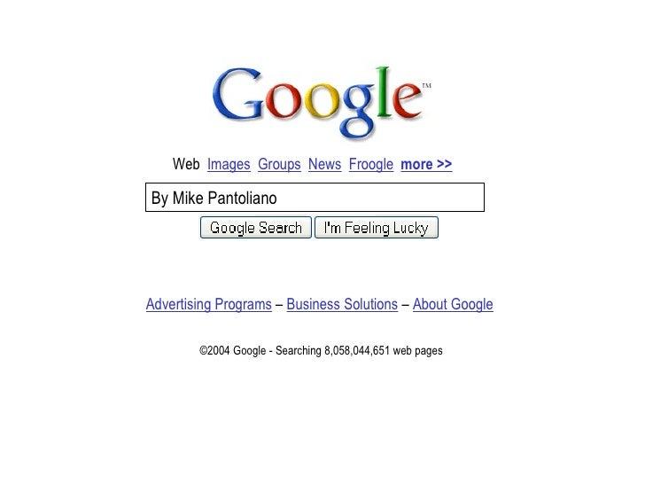 Google Presentation from 2004