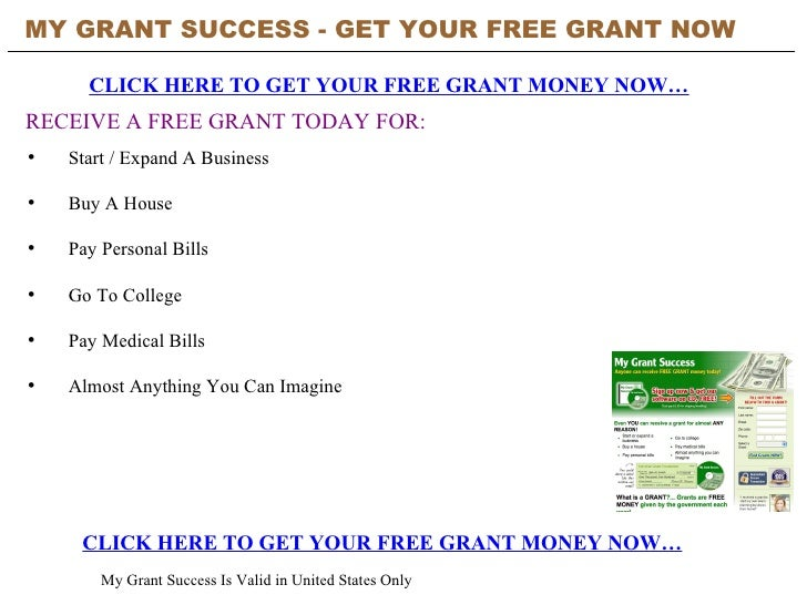 MY GRANT SUCCESS - GET YOUR FREE GRANT NOW   CLICK HERE TO GET YOUR FREE GRANT MONEY NOW… CLICK HERE TO GET YOUR FREE GRAN...