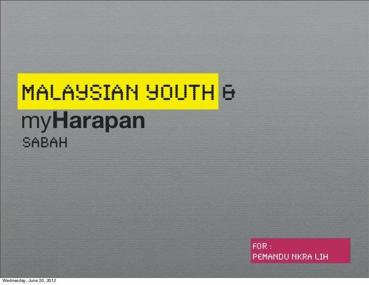 Malaysian Youth &        myHarapan        Sabah                            for :                            PEMANDU NKRA L...