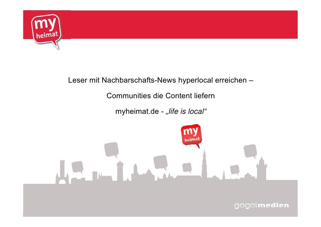 Leser mit Nachbarschafts-News hyperlocal erreichen –                                       Communities die Content liefern...