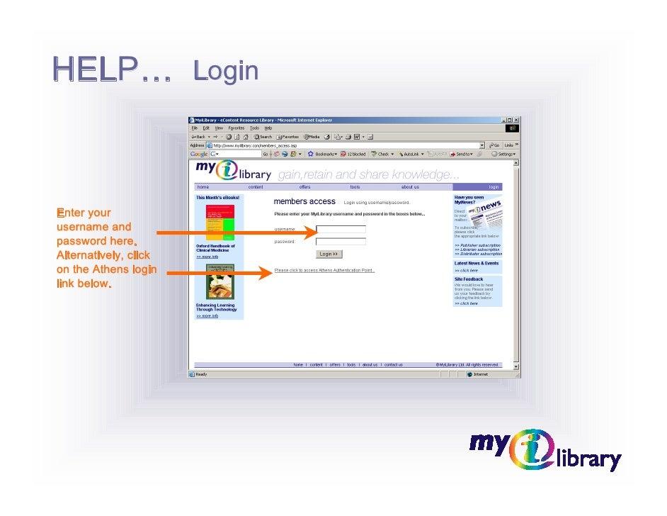 MyiLibrary Help