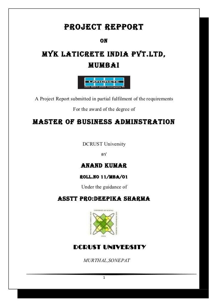 myk laticrete project