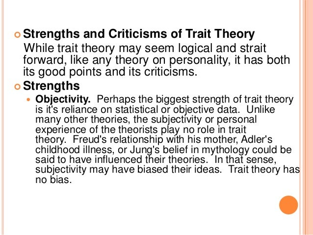 trait theory and personal construct theory