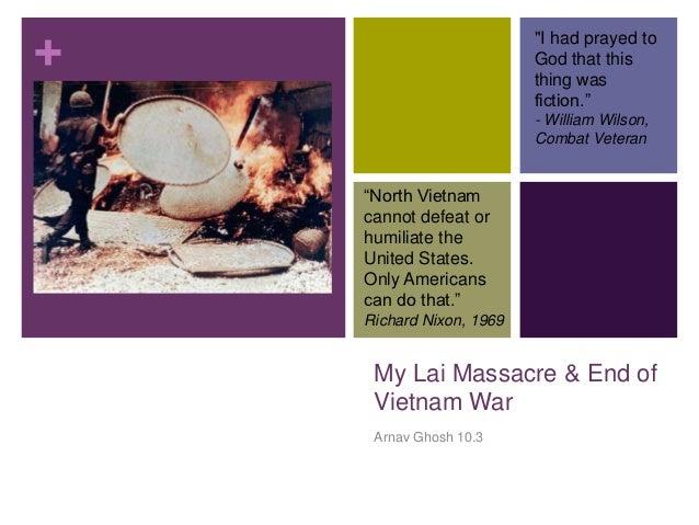 My lai & end of vietnam war