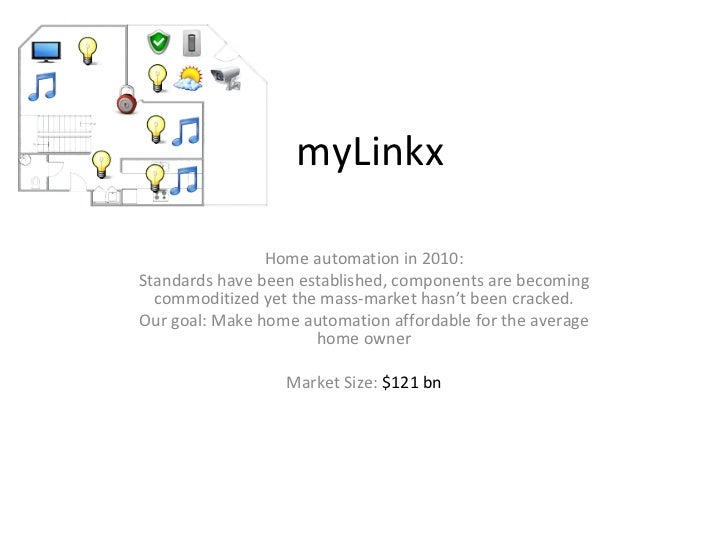 myLinkx Home automation in 2010: Standards have been established, components are becoming commoditized yet the mass-market...