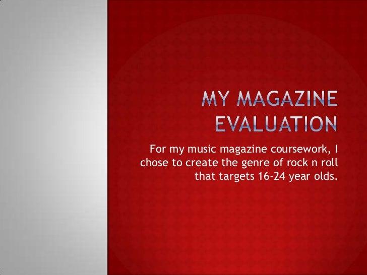 My magazine evaluation dina hallak