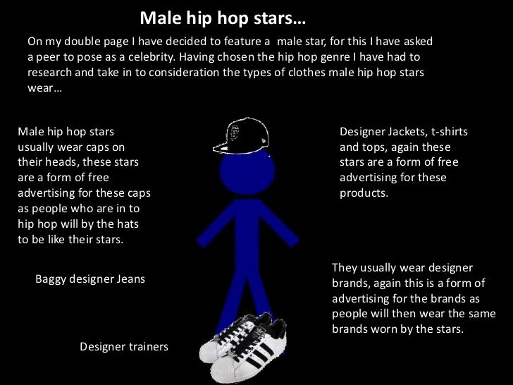 Male hip hop stars…<br />On my double page I have decided to feature a  male star, for this I have asked a peer to pose as...