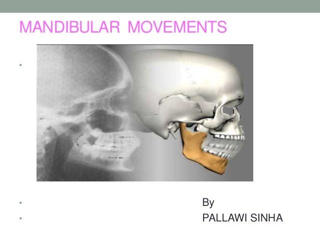 MANDIBULAR MOVEMENTS • • By • PALLAWI SINHA