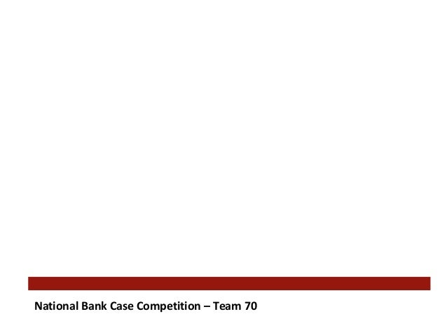 National Bank Case Competition – Team 70