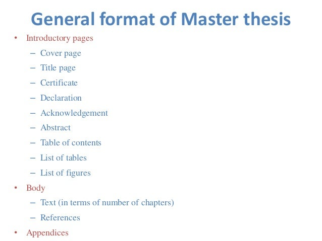 Master thesis cover page latex
