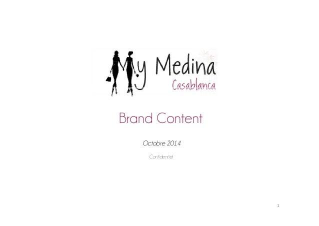 Brand Content  Octobre 2014  Confidentiel  1
