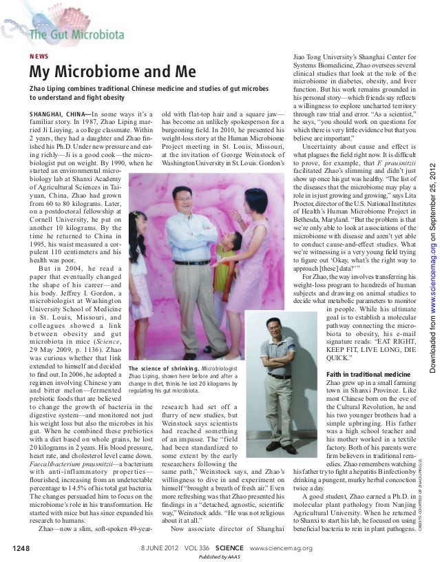 My microbiome and me