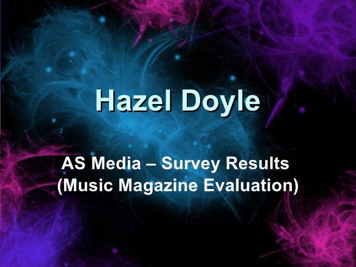 My Music Mag Survey Results