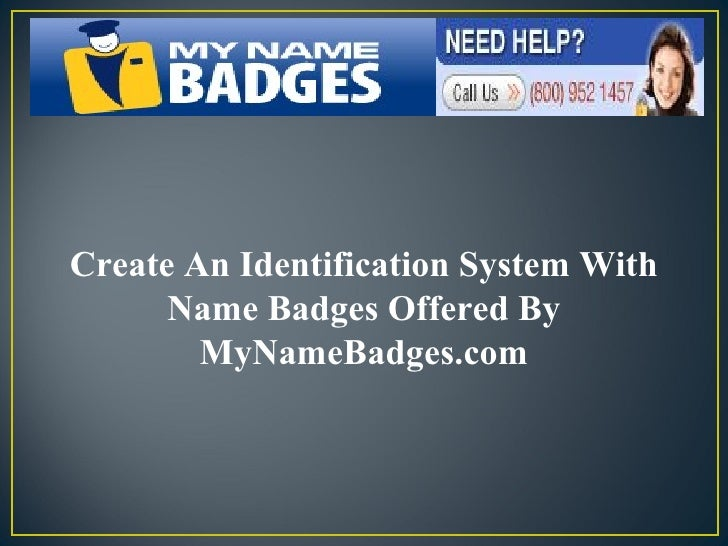 Create An Identification System With Name Badges Offered By MyNameBadges.com