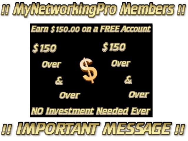 == !! My networkingpro members !! important message !! == by amy dickey