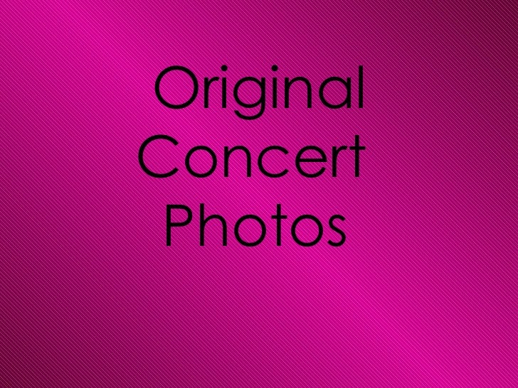 My original images from concerts