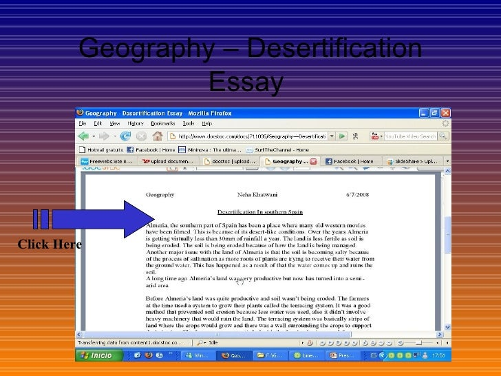 desertification essay