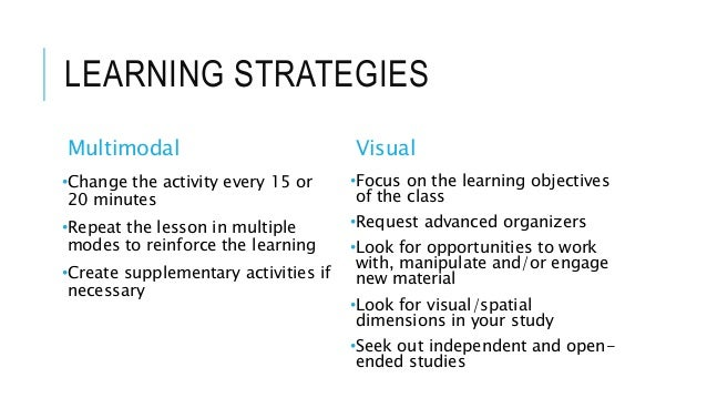 essay about learning style inventory