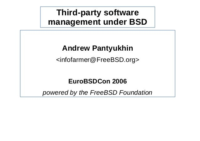 Third-party software management under BSD
