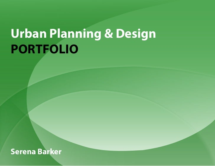 Urban Planning & DesignPORTFOLIOSerena Barker