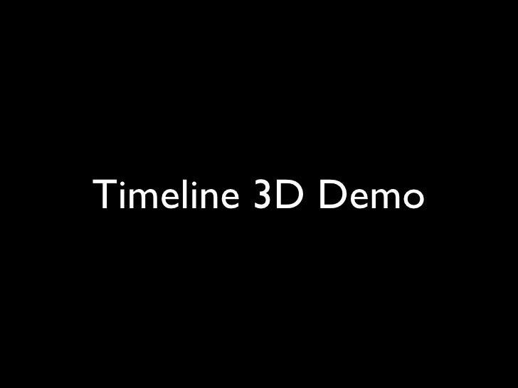 Timeline 3D Demo