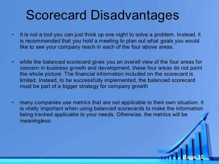 disadvantages of a balanced scorecard According to what we see daily, 'customer' is one of the most problematic perspectives of the balanced scorecard framework and it is not customer kpis that cause strategists the most.