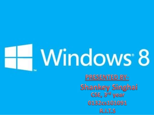 Windows 8 ppt