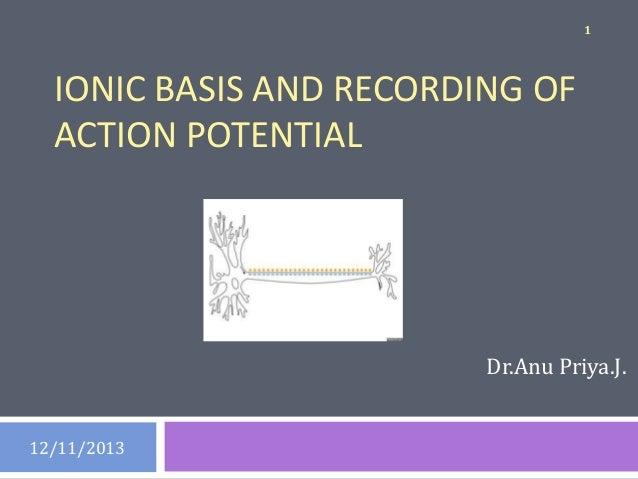 ACTION POTENTIAL - IONIC BASIS AND RECORDING