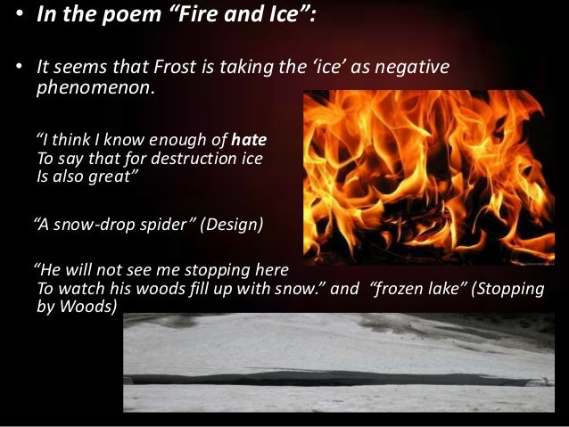 an interpretation of robert frosts fire and ice